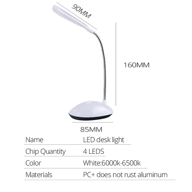 EeeToo Led Table Lamp Desk Table Light Lamparas No Harm Eyes Reading Book Night Light Bedside Table Lamps for Children Bedroom