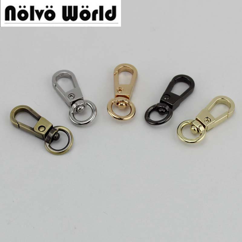 200pcs 50pcs 8mm Top Ending Gold Silver Tone Trigger Snap Hook Clasp Metal Clip Swivel Dog Leash Hardware 5colors