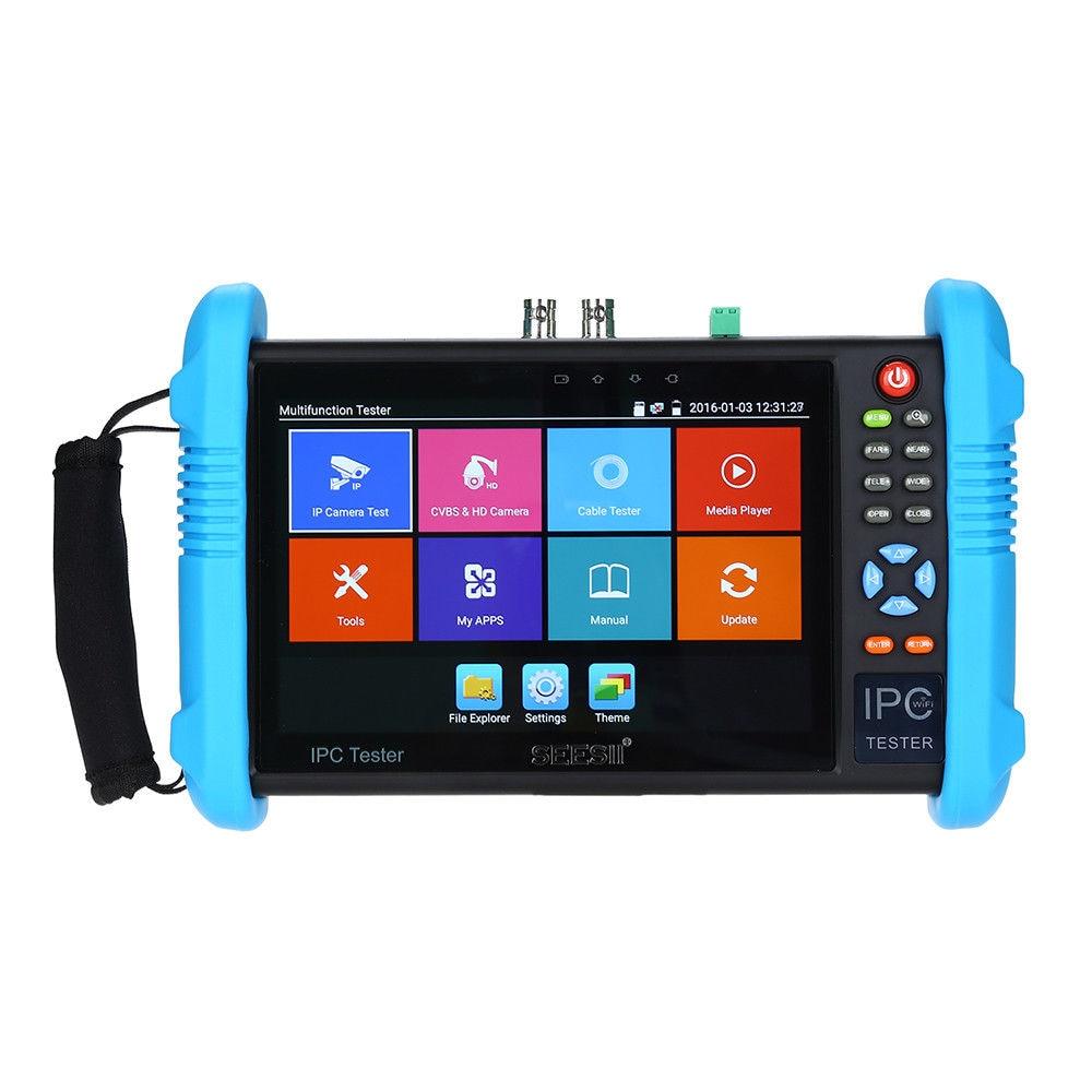 SEESII 9800PLUS 7 Inch CCTV Tester 4K 1080P IPC Camera Monitor CVBS Analog Test Touch Screen