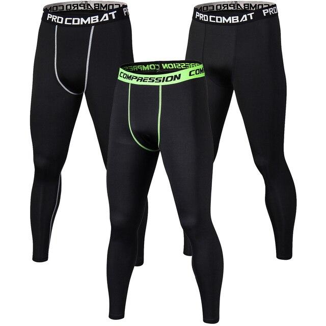 Novos Homens Calças De Compressão Musculação Crossfit Corredores Skinny Leggings de Fitness Secagem rápida Dos Homens de Cor Pura Calças Justas Calças