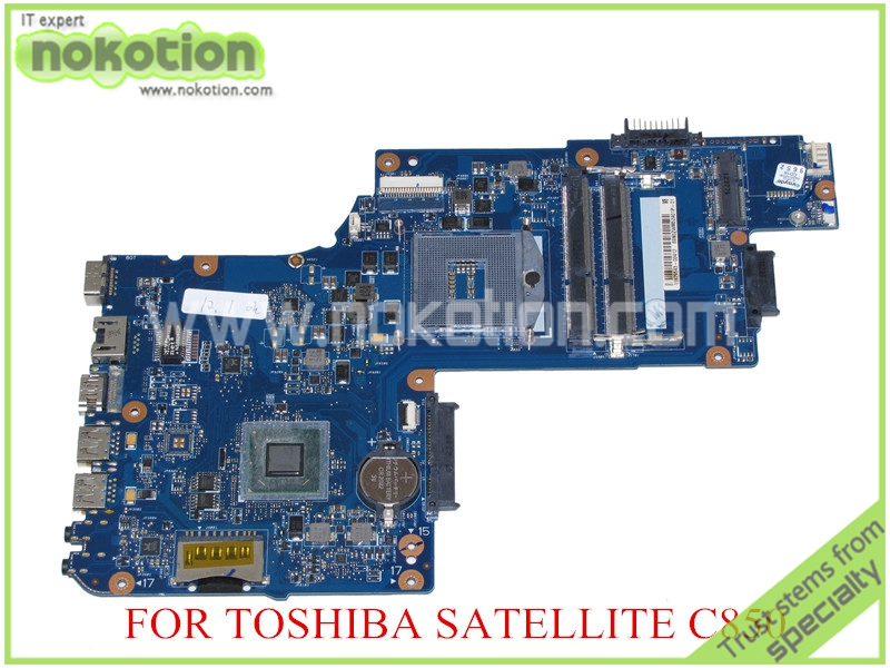 NOKOTION for toshiba satellite C850 laptop motherboard 15.6'' HM77 HD4000 Graphics DDR3 H000052700 Mainboard nokotion for toshiba satellite c850d c855d laptop motherboard hd 7520g ddr3 mainboard 1310a2492002 sps v000275280