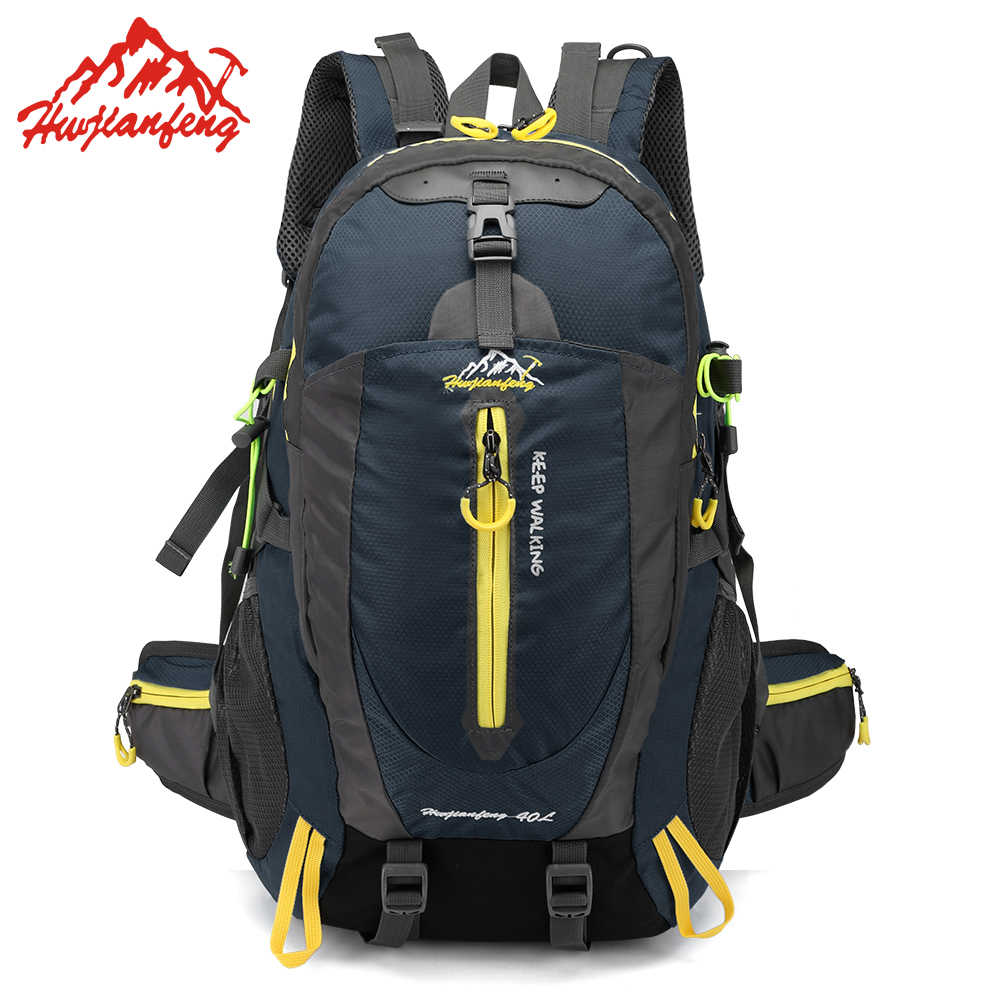 40L Waterproof Climbing Backpack Bike Bicycle Bag Travel Camp Hike Laptop Daypack Trekking Rucksack Outdoor Men Women Sport Bag