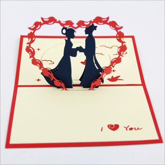Valentines day tanabata three dimensional greeting cards romantic valentines day tanabata three dimensional greeting cards romantic love cards handmade paper greeting card carved m4hsunfo