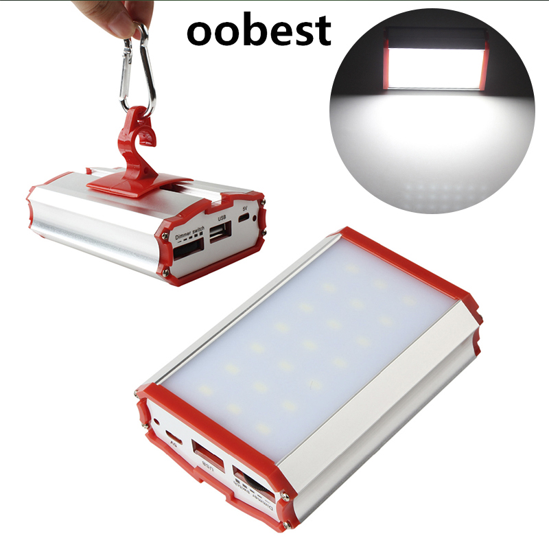 oobest Portable Hanging SMD LED Tent Light Lamp Outdoor Hiking Camping Lantern Flashlight USB Power bank for Moibile Phones mini usb led lamp portable bendable keyboard usb light for ultrabook notebook laptop power bank adapter wall car charger