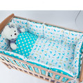 Hot Baby Cotton Bumpers Infant Cartoon Detachable Environmental Protection Type Fruit Print Cotton 6pcs/set For 120x60cm Crib