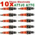 Three-Electrode High Performance A7TC Motorcycle Spark Plug 50cc 70cc 90cc 110cc 125cc ATV Dirtbike 50 125 150cc Moped Scooter