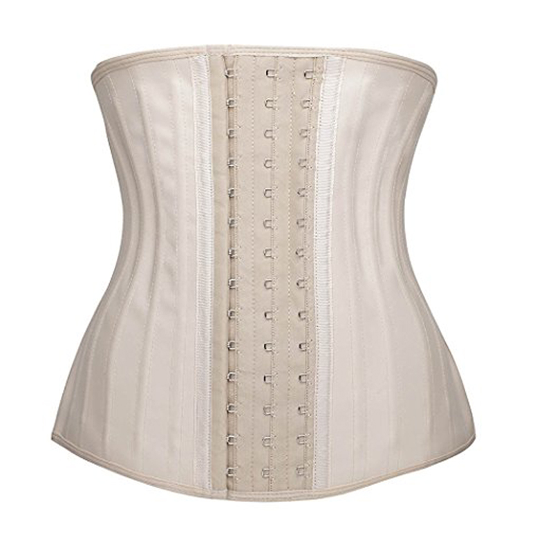 25 Steel Bones Posture Corrector Belt with Three Row Buckle Design Made of Pure Natural Rubber Fabric for Female 3