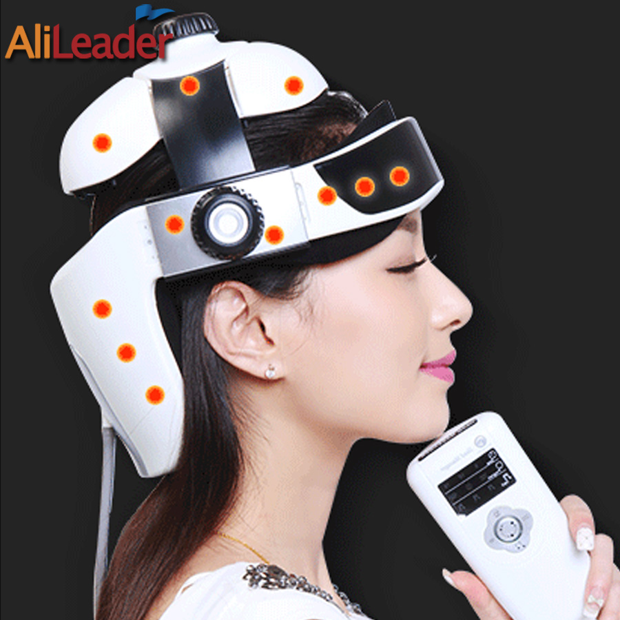 AliLeader Household Device Electric Head Massager For Relaxing Instrument Helmet With Music Life Relaxation Vibration Massage ngk bp6es