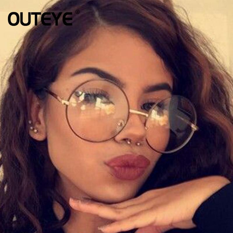 91f594919b Vintage Clear Glasses Women Men Round Metal Frame Transparent Eyeglasses  Fashion Preppy Style Optical Eyewear Eye