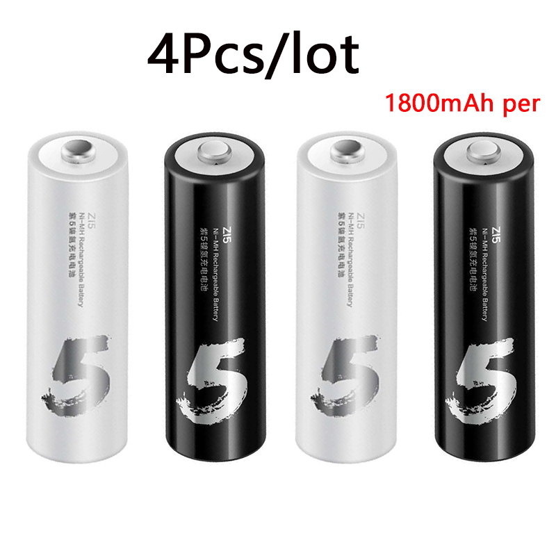Xiaomi ZMI ZI7 ZI5 AAA AA 700mAh 1800mAh 1.2V Rechargeable Ni-MH Battery Xiaomi ZIM Power Bank Battery Pack mihome mijia (20)