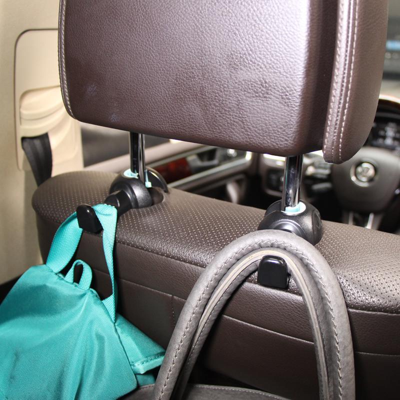 2pcs/lot Universal Multi Use Car Back Seat Headrest Hanger Holder Hook for Sundry Bag Cloth Grocery Storage Auto Fastener Clip