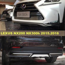 For LEXUS NX200 NX300h 2015.2016 Bumper Protector Guard Skid Plate High Quality Brand New ABS Front+Rear Bumpers Car Accessories