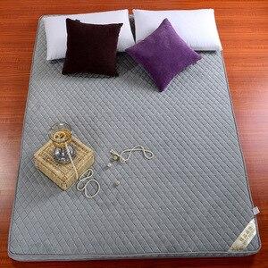 Image 5 - ثلاثي الأبعاد سماكة المرجان المخملية فراش مزدوج الوجهين أربعة مواسم سرير قابل للطي ، فراش ، السرير المنتج