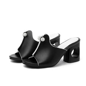 Image 3 - Smirnovaプラスサイズ 34 48 ファッション夏新靴女性の正方形のハイヒールの靴女性カジュアルサンダル女性 2020 夏の靴