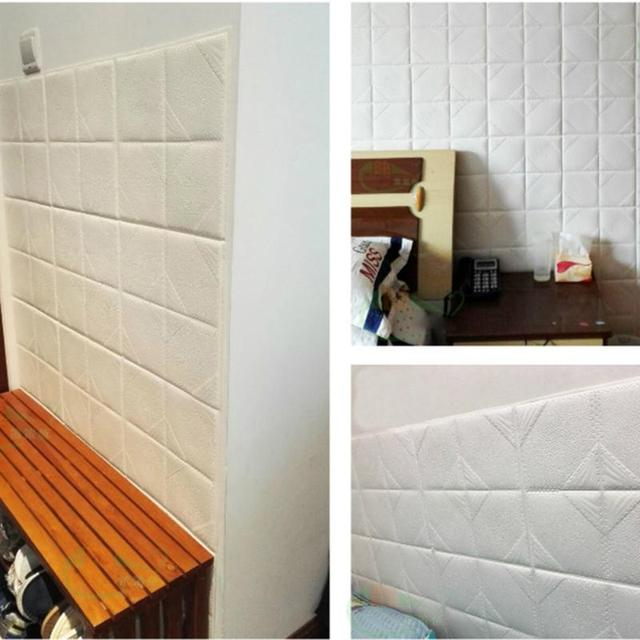 XPE Foam 3D DIY Stone Brick Wall Stickers Home Living Room Bedroom Decoration Waterproof TV Background