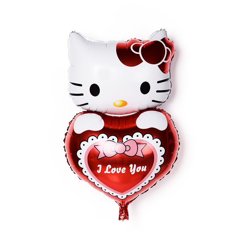 Hot new 32-inch aluminum balloons 44cm * 80cm cartoon hello kity holding heart Birthday Party Wedding Decoration globos