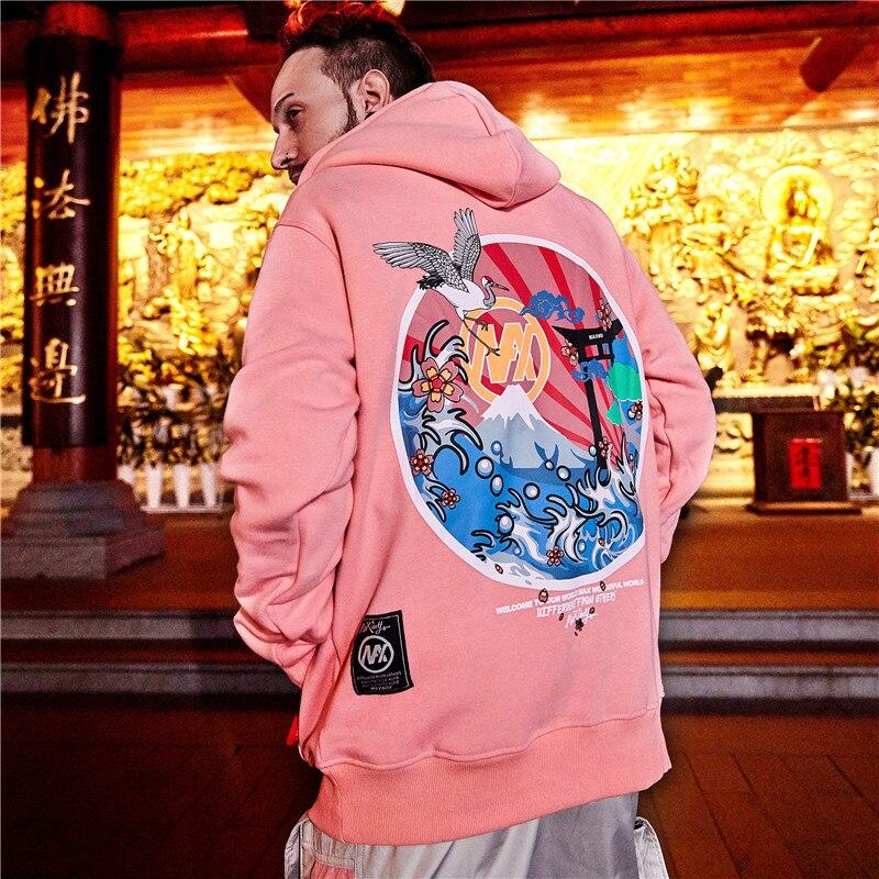 Capucha Harajuku Mujeres L Nuevos navy 2019 De Bordar Moda M Invierno Sudaderas Y Sudaderas Uplzcoo Con Casual 2xl Xl Ja106 Pink Hiphop Hombres Japonés xwvFfxCq