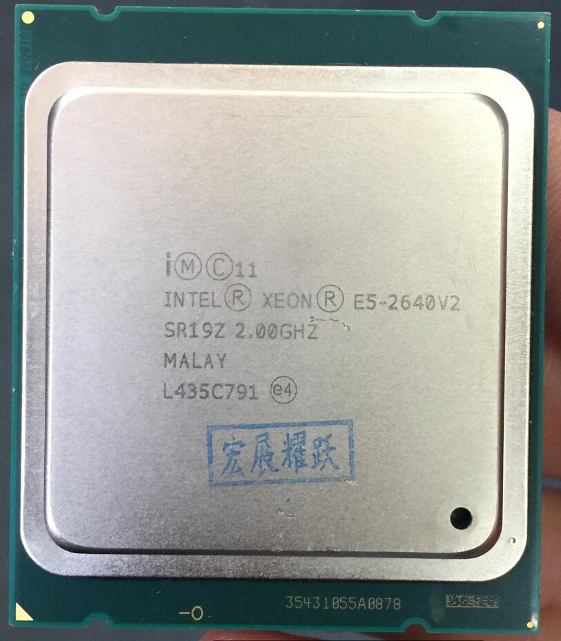 Intel Xeon E5-2640 V2  E5-2640V2   Eight Core CPU LGA2011 Server CPU E5 2640V2   E5 2640 V2  CPU