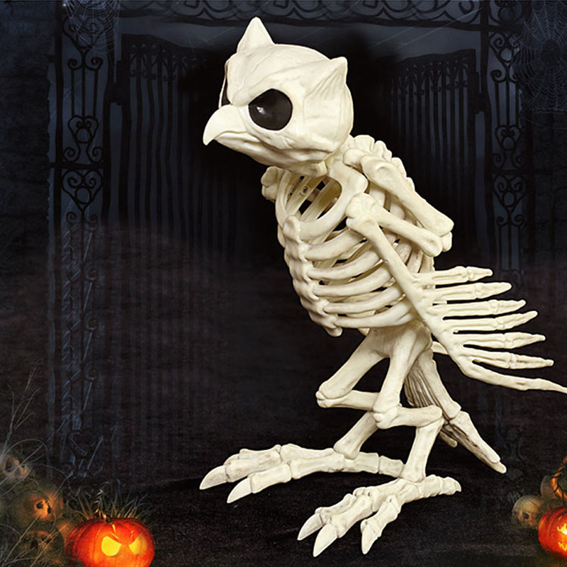 Halloween Decoration Bone Props Animals Skeleton Ornaments Bat Spider Dragon Bird Bones Hallowmas Horror House Party Decoration (57)