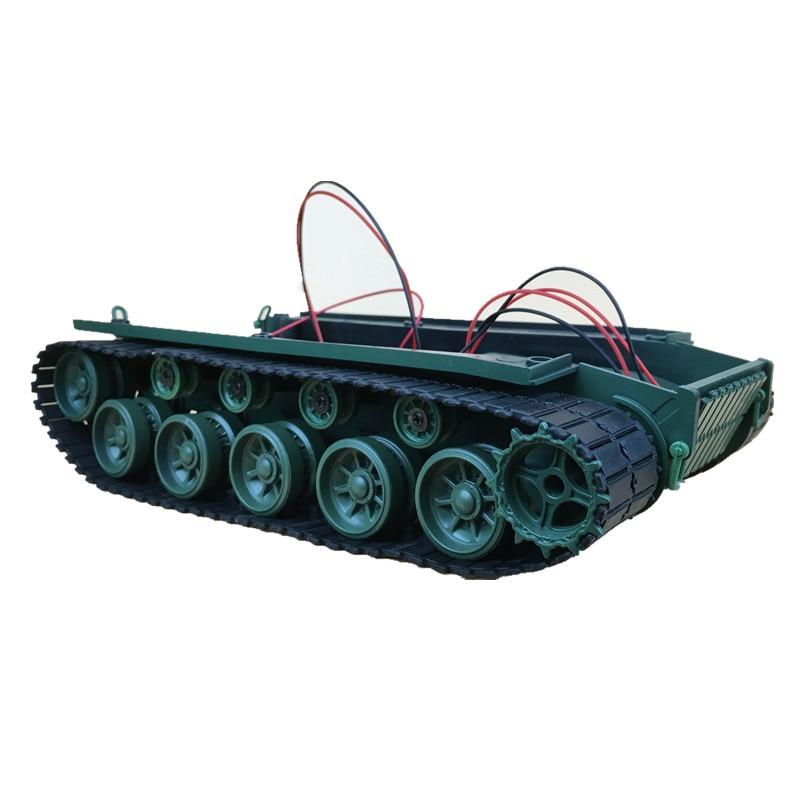 все цены на Medium sized shock absorbing robot tank chassis tracked vehicle with suspension damping economy онлайн