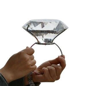 Image 5 - Kreative Transparent Großen Kristall Diamant Hochzeit Ornament Prop Zu Geben Freundin Geburtstag Valentinstag Geschenk Home Kunst Handwerk
