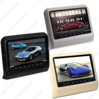 FEELDO 1Pc 9 Inch Car Headrest Monitors Digital LCD AV 9HD Monitor Remote Control 3 Color #FD3857