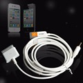 3.5mm aux car audio out cable dock usb para iphone 3gs 4 ipod touch ipad $ number fc
