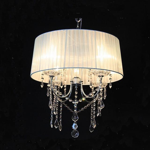4 Arms Chandelier Crystal Lustres Light Dining Living Room Pendant Luminaria for Home Bar Cafe LED Chandelier Lamp Candelabro