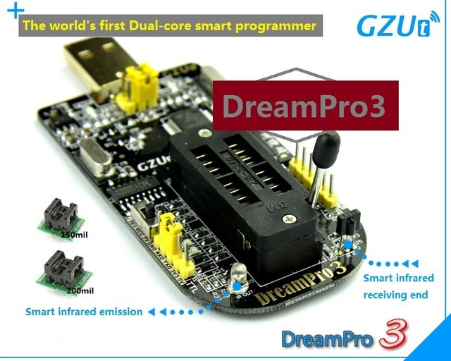 DreamPro3 DreamPro2 Offline copy motherboard BIOS SPI FLASH 25 USB  programmer writer + Adapter 150mil and 209mil-in Electronics Production  Machinery