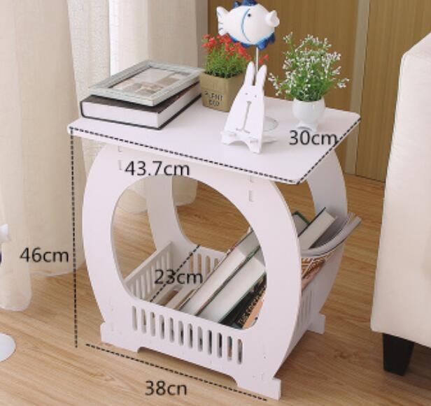 где купить 44*30CM Living Room Coffee Table Balcony Tea Table Modern Bedside Table Sofa Side Table дешево