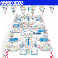 Happy Birthday Theme Party Tableware Boy Girl Party decoration Baby Happy Birthday wedding event party supplies for kids Holiday