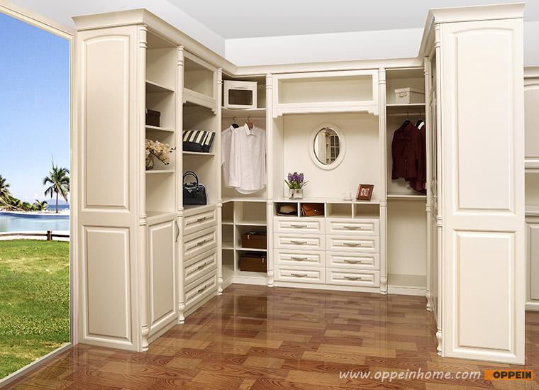 Chinese New Design Bedroom Closet Wood Wardrobe Cabinets