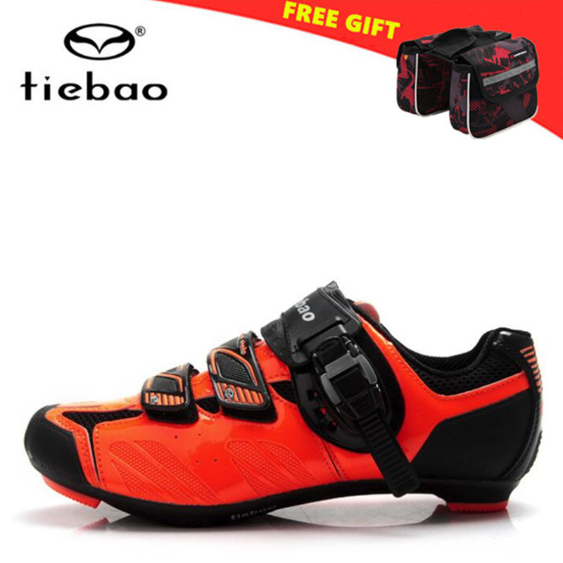 TIEBAO Road Cycling Shoes Men Self-locking Road Bicycle Bike Shoes Racing Scarpe zapatillas deportivas mujer women sneakers men tiebao cycling shoes 2017 winter off road bike athletic boots sapato masculino zapatillas deportivas mujer mens sneakers women
