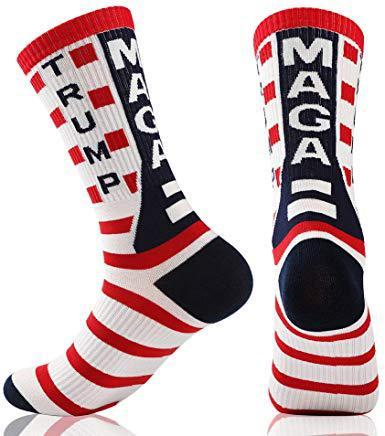 New 2020 President Donald Trump Socks Unisex Funny Print Adult Casual Crew Socks 3D Fake Hair Crew Socks Hot Sale Hip Hop Sock