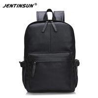 High Quality PU Leather Backpack For Man Large Male Backpack Student Schoolbags Double Zipper Travel Rucksack