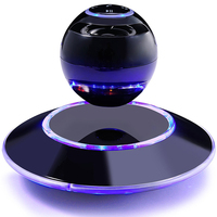Cool Car Styling Creative Magnetic Floating Levitating Portable Wireless Hands Free Call Bluetooth Speakers With Microphone
