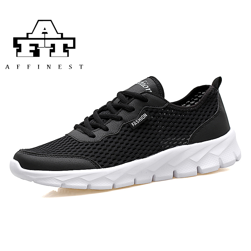 AFFINEST Men Women Running Shoes Breathable Lightweight Summer Sneakers non-slip lace up Walking Road Run Shoes Plus Size tênis masculino lançamento 2019