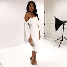 Newest Summer Celebrity Party Women Dress White Sleeveless One-Shoulder Strapless Sexy Night Out Club Dress Women Vestidos