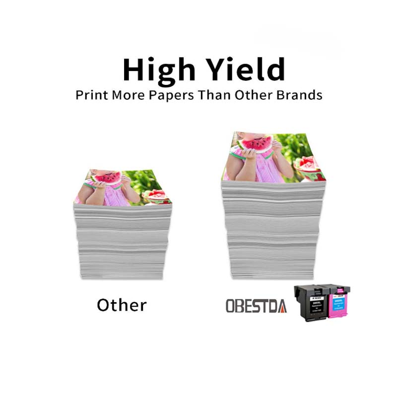 Obestda 338 343 XL Remanufactured Ink Cartridge Replacement for HP 338 343 for HP Deskjet 5740 6520 6540 6840 Photosmart 8150 in Ink Cartridges from Computer Office