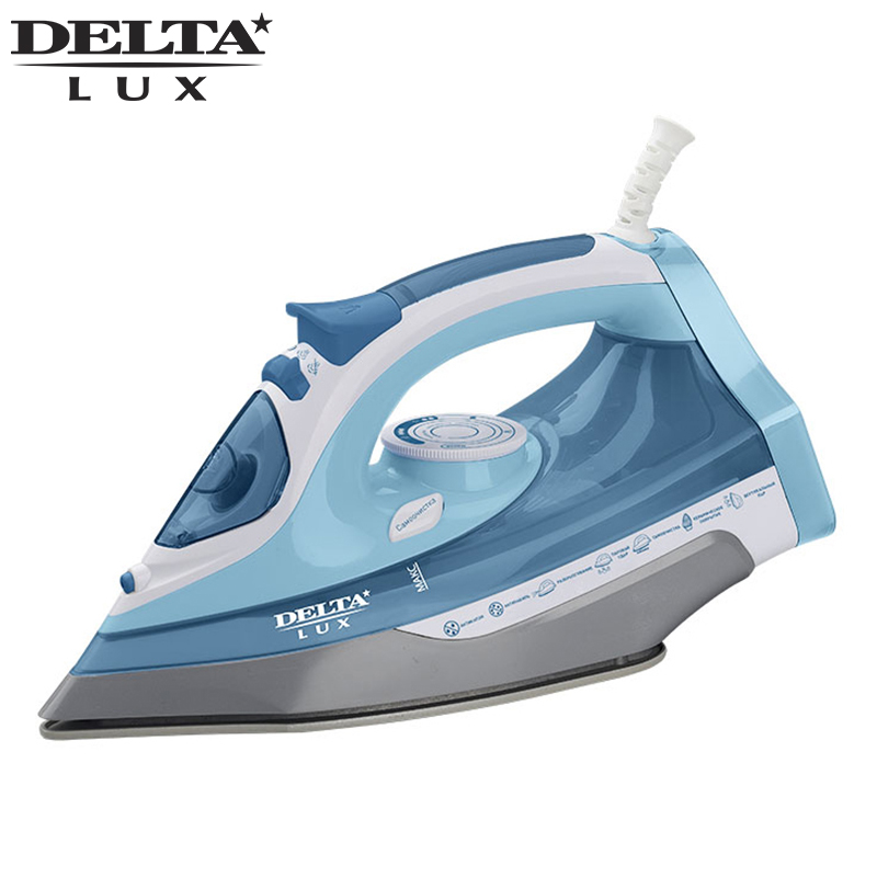 DL-712 Steam Iron 2400W Overheat protection Ceramic soleplate Dry/Steam ironing Steam boost button professional 450f ceramic vapor steam hair straightener with argan oil infusion steam flat iron ceramic vapor fast heating iron