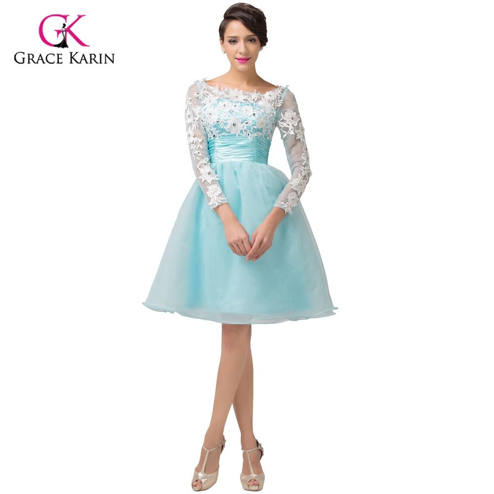 Vestidos de fiesta cortos azul turquesa