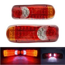 2 шт. водостойкий 12 В 24 грузовик светодиодный задний фонарь Стоп Реверс Индикатор безопасности противотуманные фары для трейлера грузовик задние фонари автомобиля