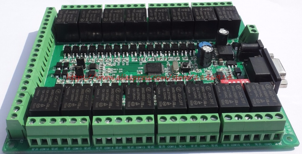 Free shipping 16 relay / control board /16 input /16 output /RS485/RS232/CAN