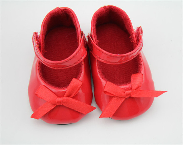 Lovely Reborn Baby Doll Shoes Fit For 18 Inch 45 cm American Girl Dolls  Mini Red 3ce0f3eab33a