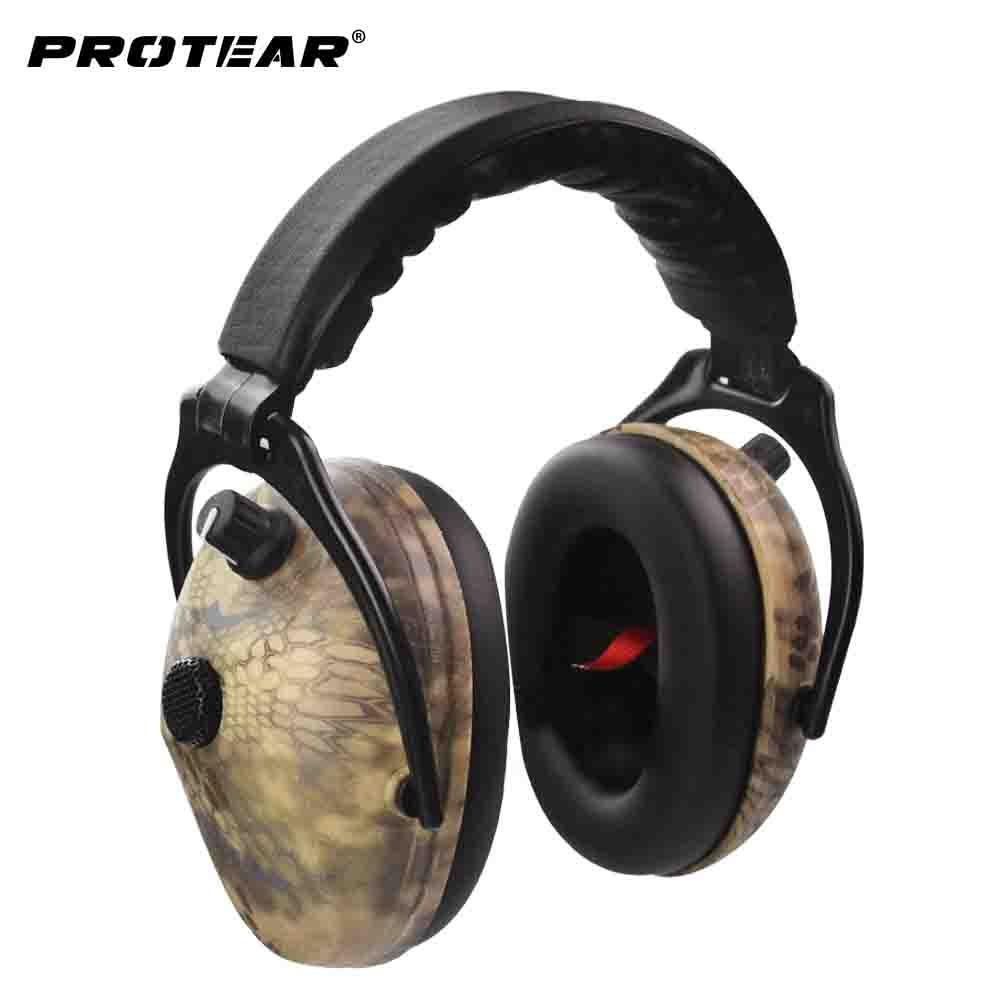 Protear змеиная печатная электронная защита для ушей стрельба наушники для ушей тактическая гарнитура Защита слуха наушники для охоты
