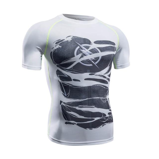 2017 marvel superman flash camisa de compressão calças justas da aptidão  crossfit quick dry t shirt c406027080a19