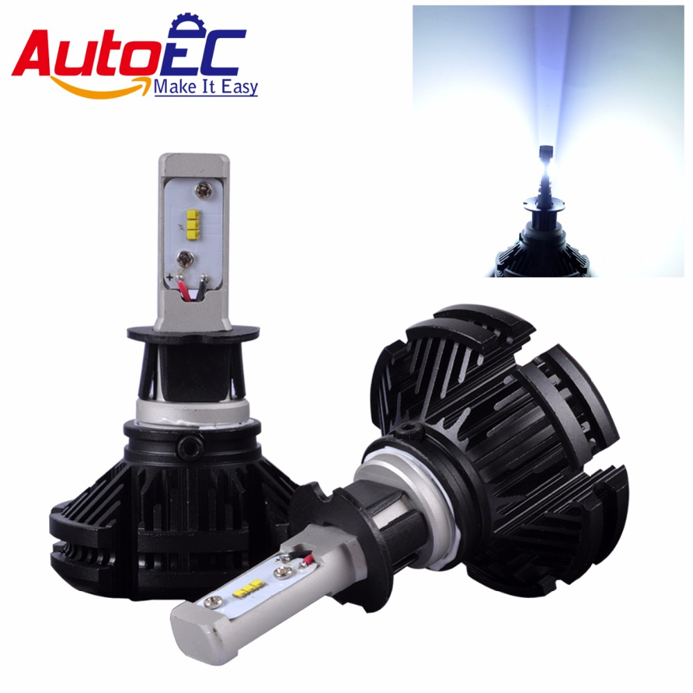 AutoEC 1 компл. X3 светодиодный фар H4 H7 H11 9005 9006 H13 лампы 50 Вт 6000LM автомобиля автомобильных фар CSP чипы стайлинга автомобилей # LN66