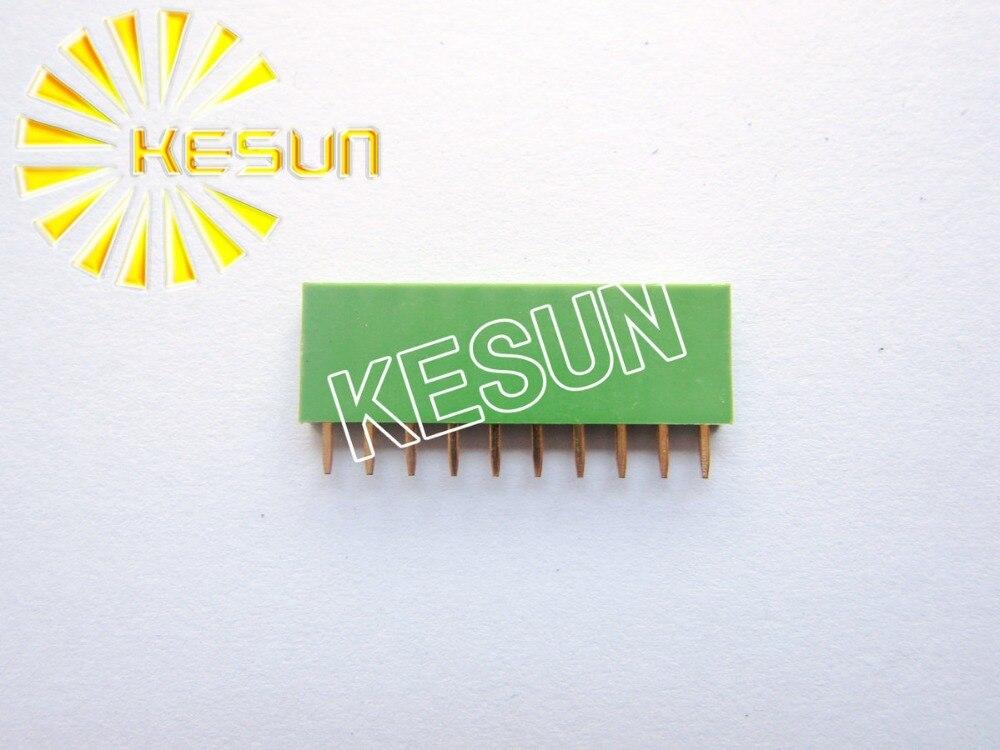 2.54MM 1X10 10Pin Green Female Pin Header Strip x 500PCS