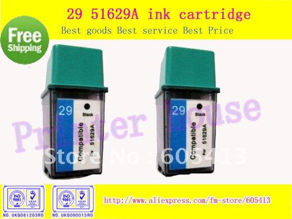 Free Shipping 500page Compatible Ink Cartridge for HP 29 hp29 C51629A  Black Deskjet 693C 695C 697C 682C 692C 600C 670 printer