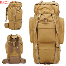 65L Waterproof Tactical Camouflage sprots backpack man travel outdoor Military male Mountaineering Hiking Climbing Camping bags
